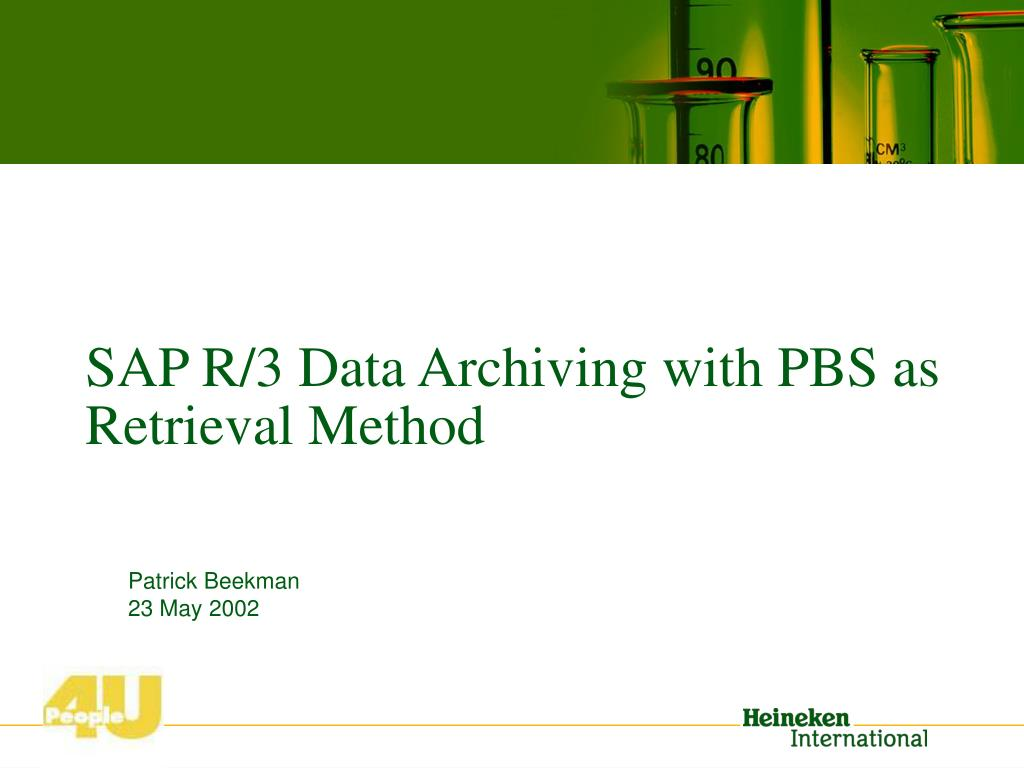 SAP R/3 Data Archiving with PBS
