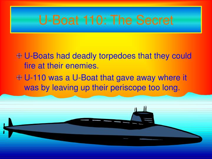 U-Boat 110: The Secret