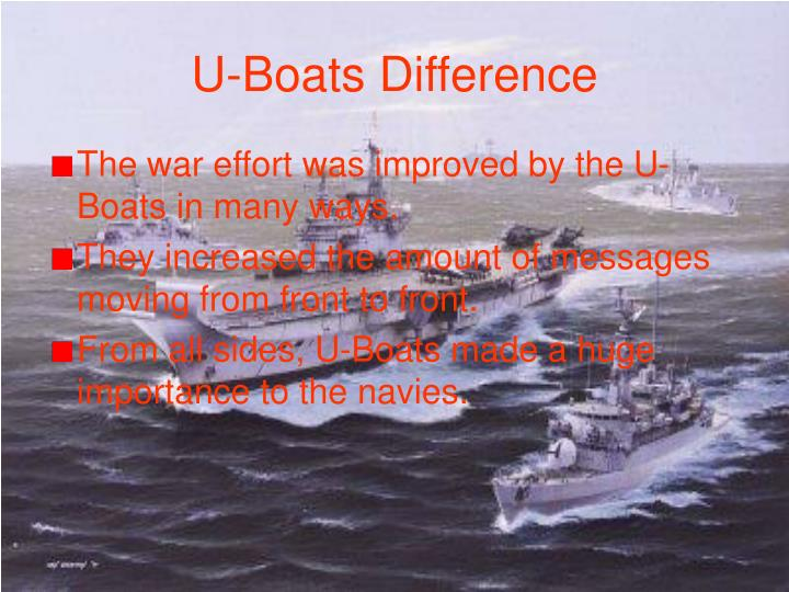 U-Boats Difference