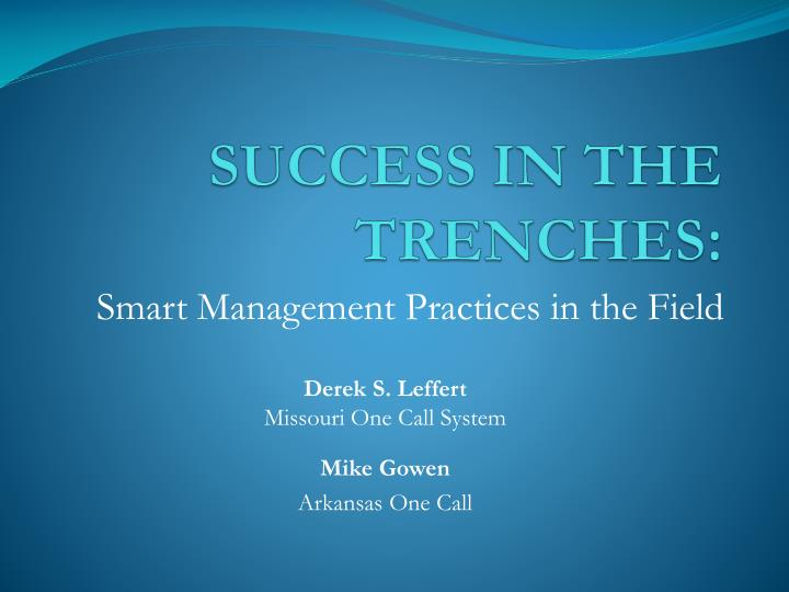 success in the trenches n.