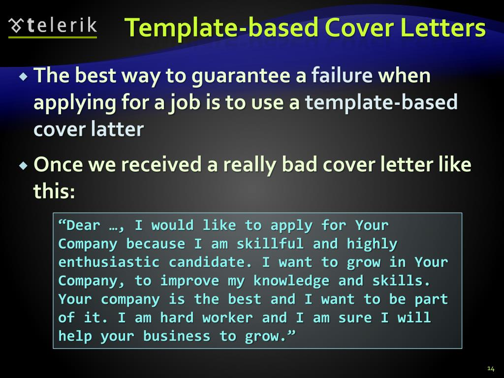 Ppt How To Write A Cover Letter Powerpoint Presentation Free Download Id 1457479