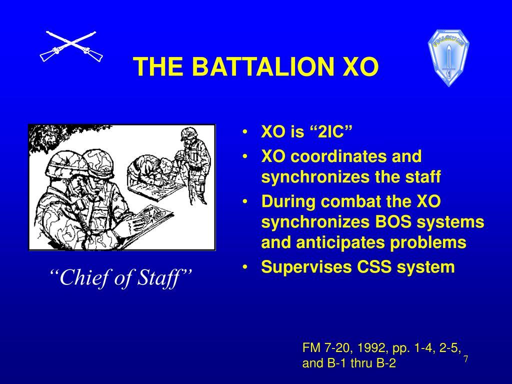 THE BATTALION XO
