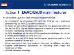 action 1 emmc emjd main features