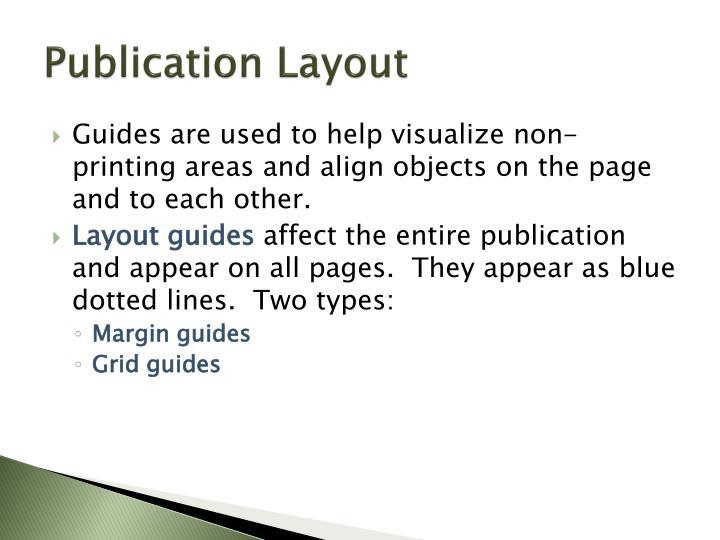 Publication layout