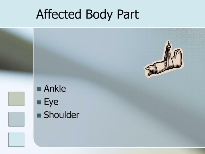 Affected Body Part