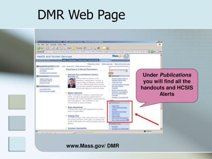 DMR Web Page