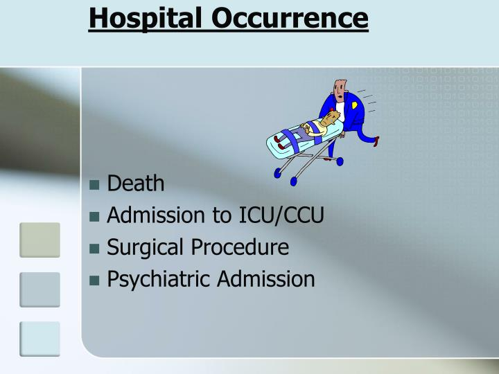 Hospital Occurrence