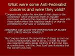 what were some anti federalist concerns and were they valid3