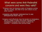 what were some anti federalist concerns and were they valid5