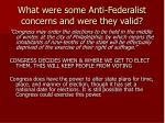 what were some anti federalist concerns and were they valid7