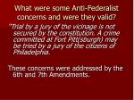 what were some anti federalist concerns and were they valid8