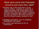 what were some anti federalist concerns and were they valid9