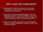 who were the federalists