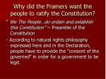 why did the framers want the people to ratify the constitution1