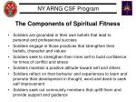 the components of spiritual fitness