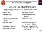 unhealthy spiritual behaviors psychological states soldier behaviors