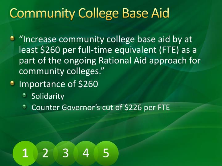 Community College Base Aid