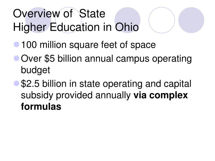 Overview of state higher education in ohio3