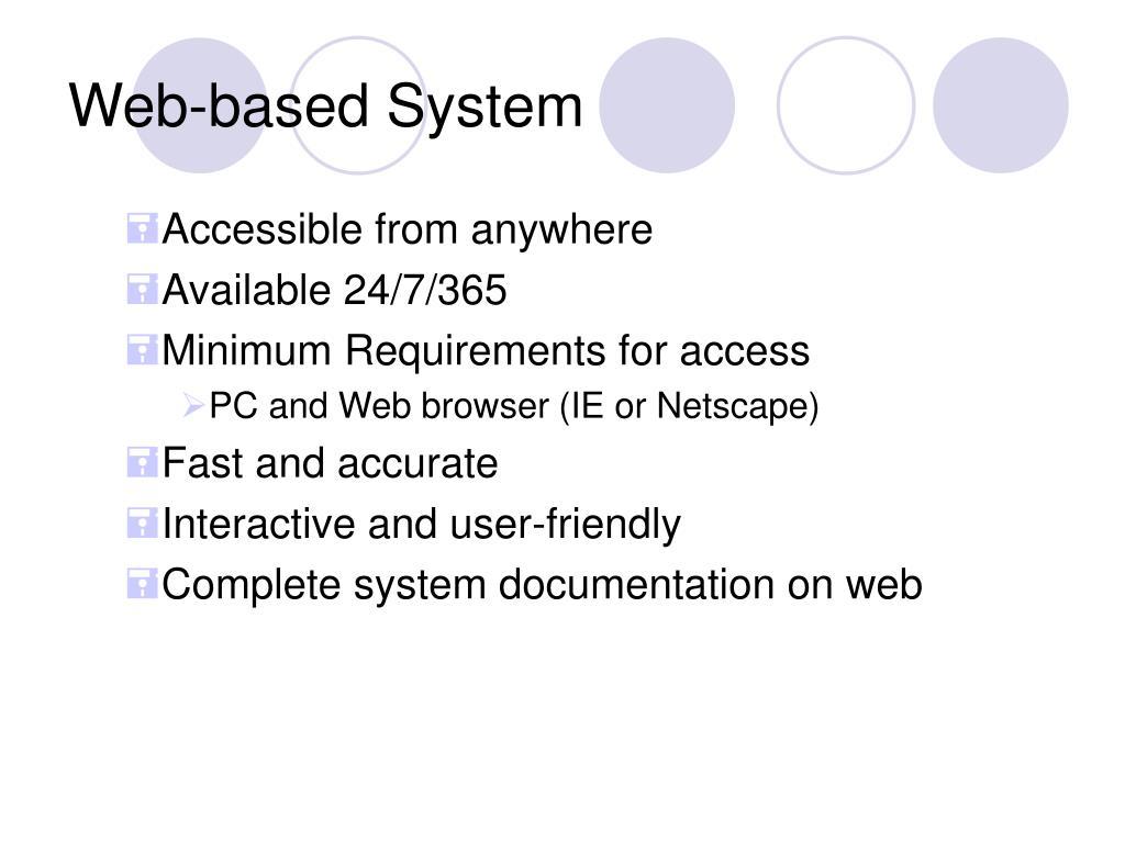 Web-based System