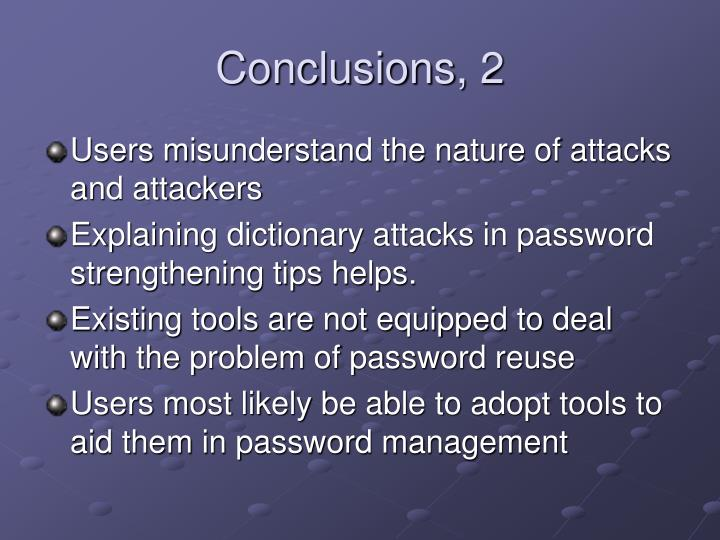 Conclusions, 2