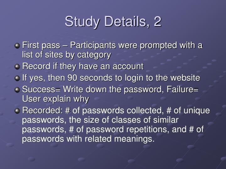 Study Details, 2