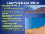 salinity and mixing patterns