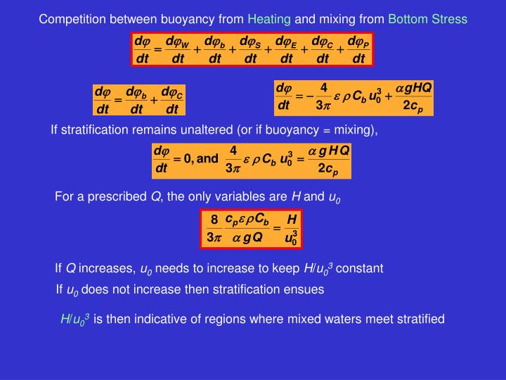 If stratification remains unaltered (or if buoyancy = mixing),