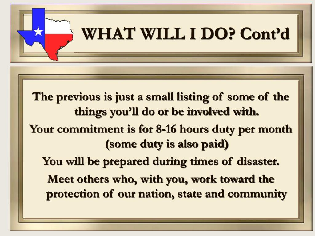 WHAT WILL I DO? Cont'd