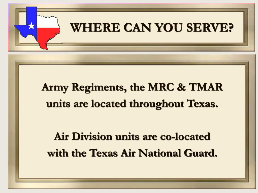 WHERE CAN YOU SERVE?