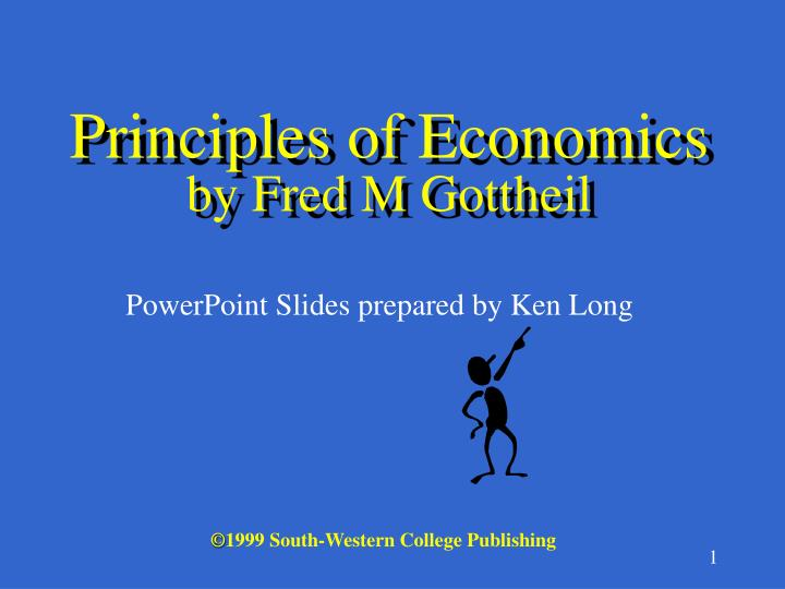principles of economics by fred m gottheil n.