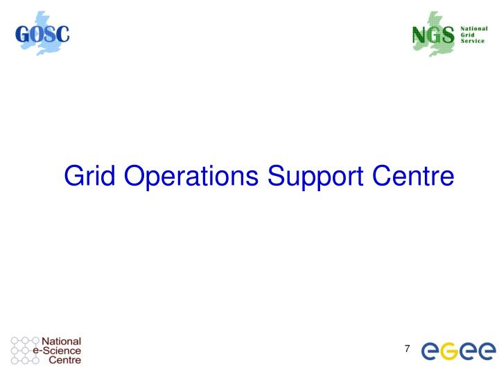 Grid Operations Support Centre