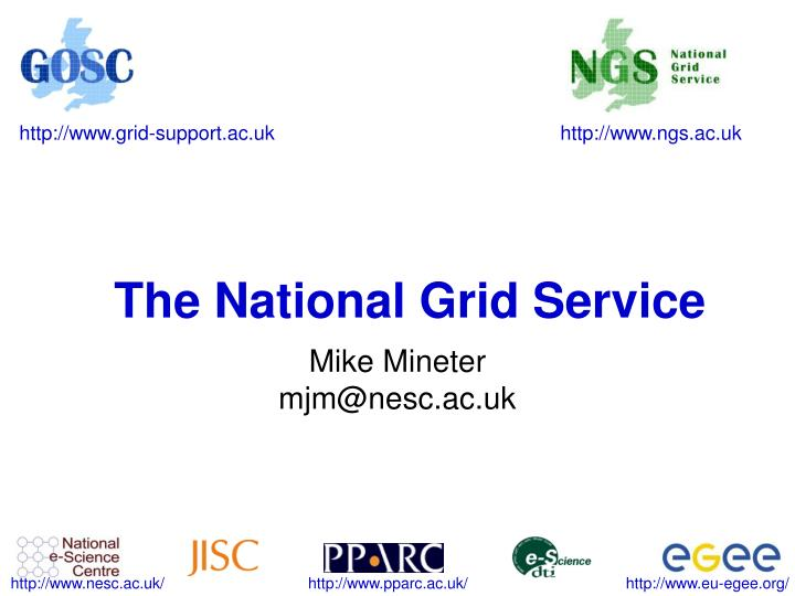 The national grid service