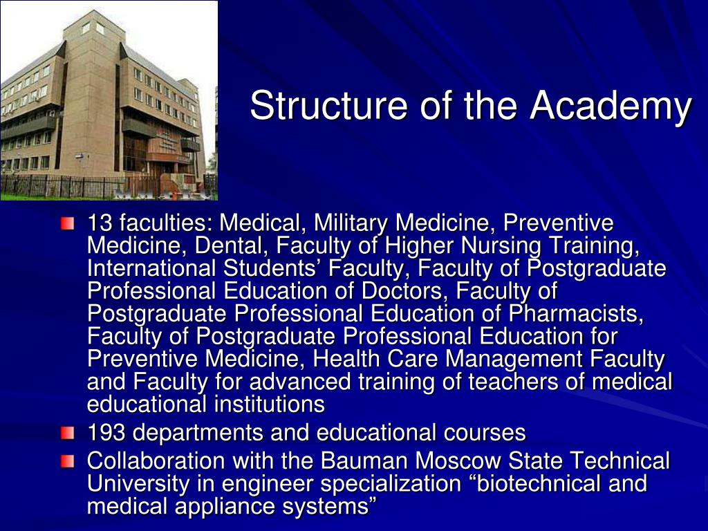 PPT - I M  Sechenov Moscow Medical Academy Founded in 1758