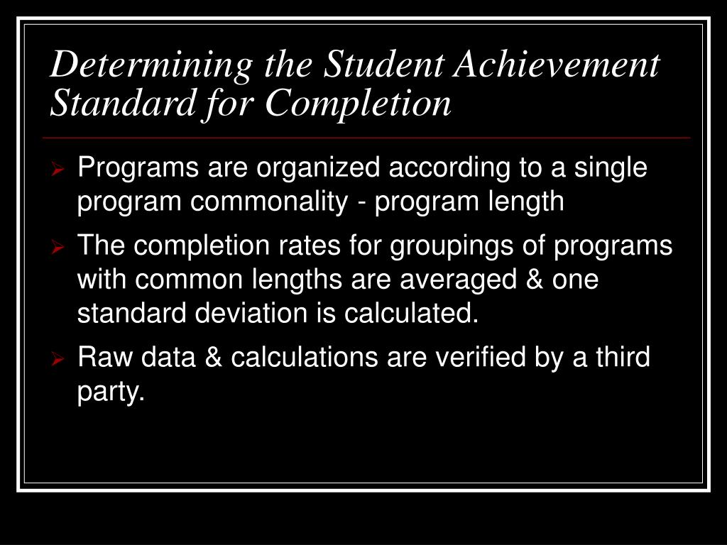 Programs are organized according to a single program commonality - program length