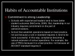 habits of accountable institutions