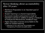newer thinking about accountability after 10 years