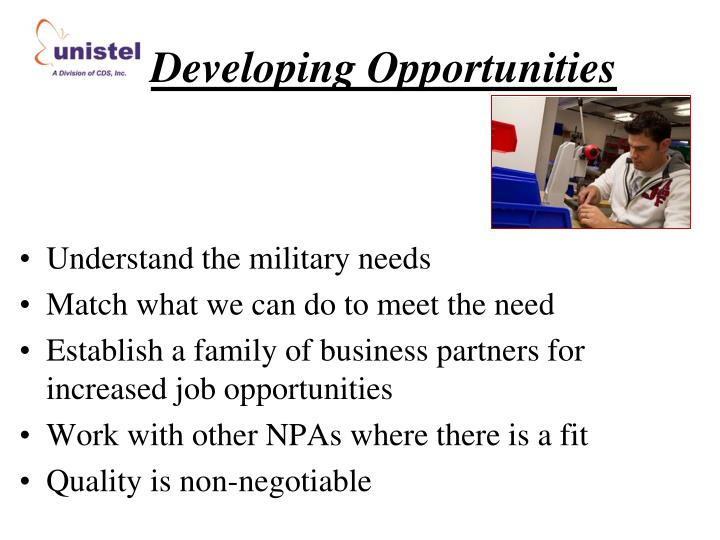 Developing Opportunities