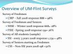 overview of um flint surveys