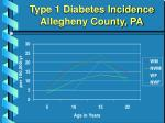 type 1 diabetes incidence allegheny county pa