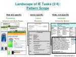 landscape of ie tasks 2 4 pattern scope