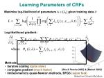 learning parameters of crfs