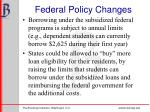 federal policy changes