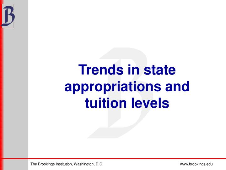 Trends in state appropriations and tuition levels