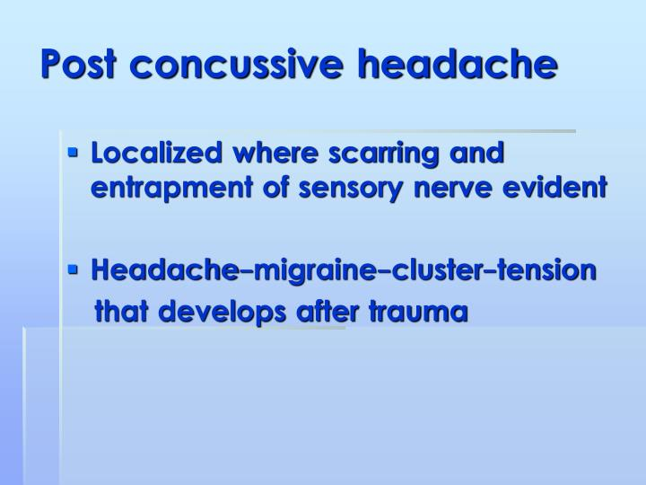 Post concussive headache