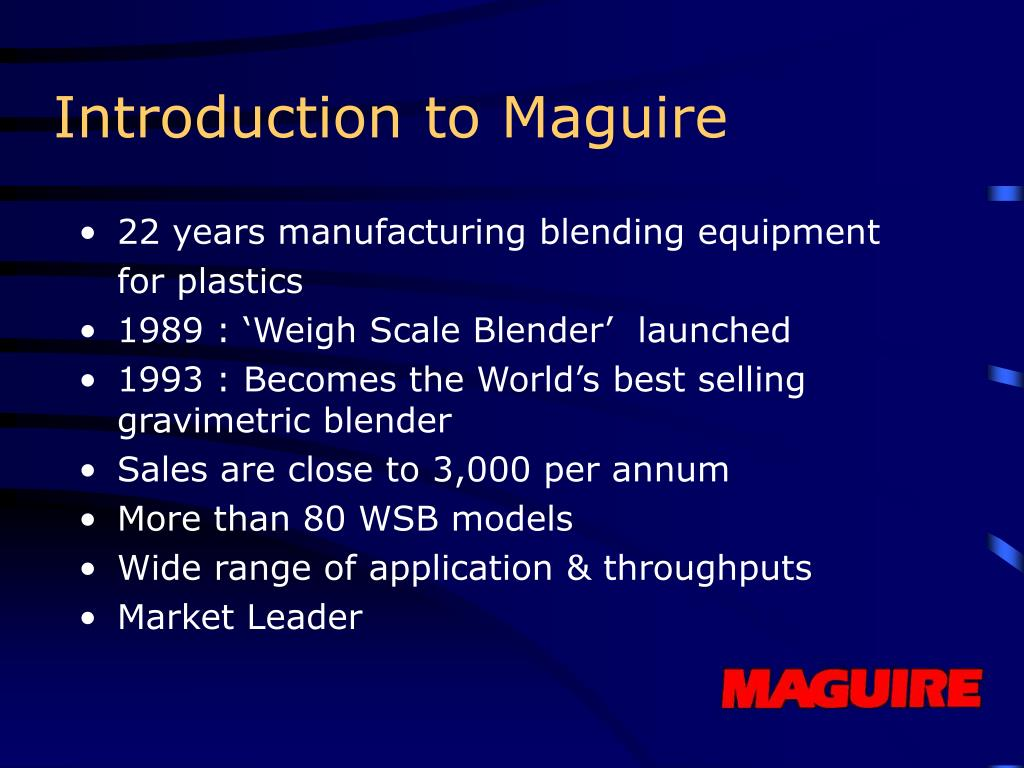 Introduction to Maguire