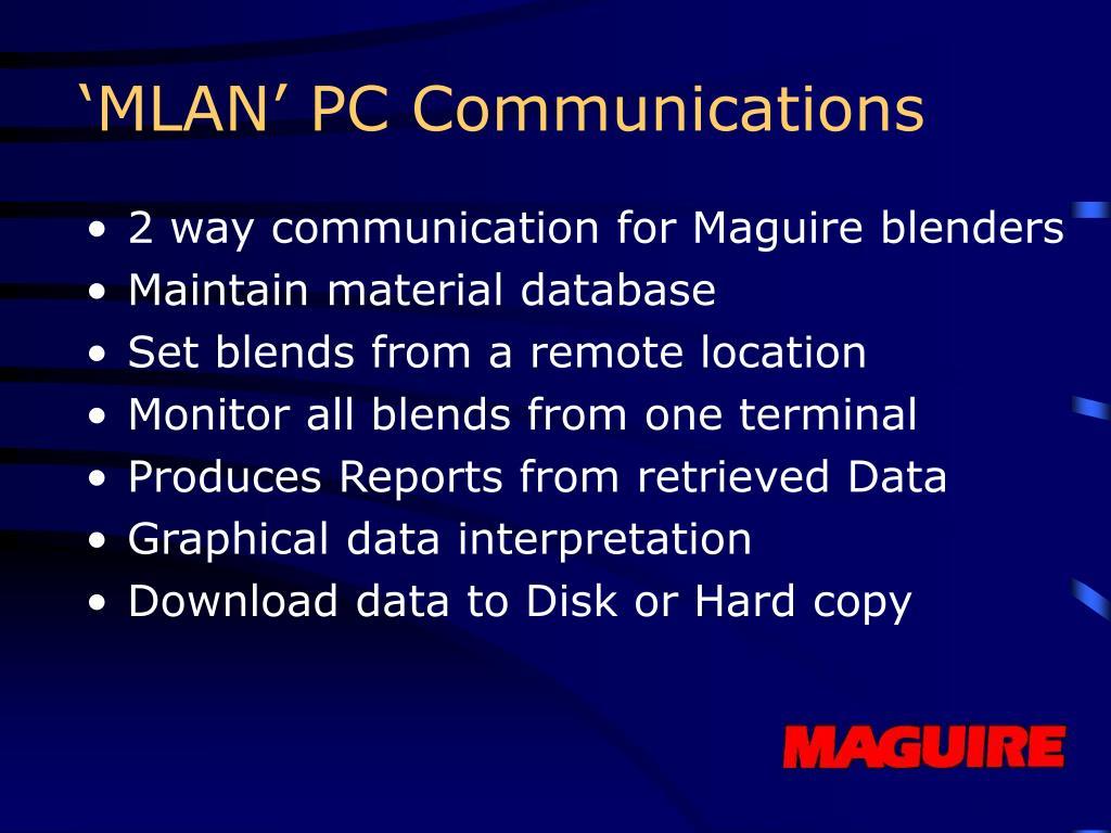 'MLAN' PC Communications