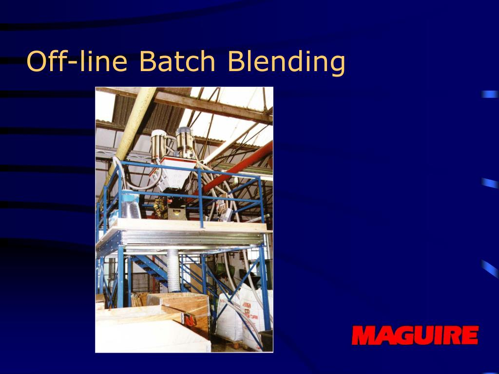 Off-line Batch Blending
