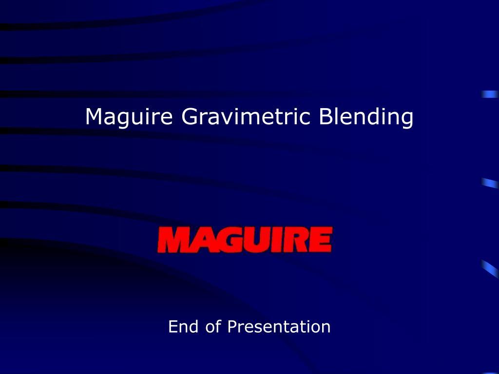 Maguire Gravimetric Blending