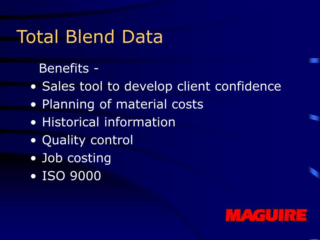 Total Blend Data