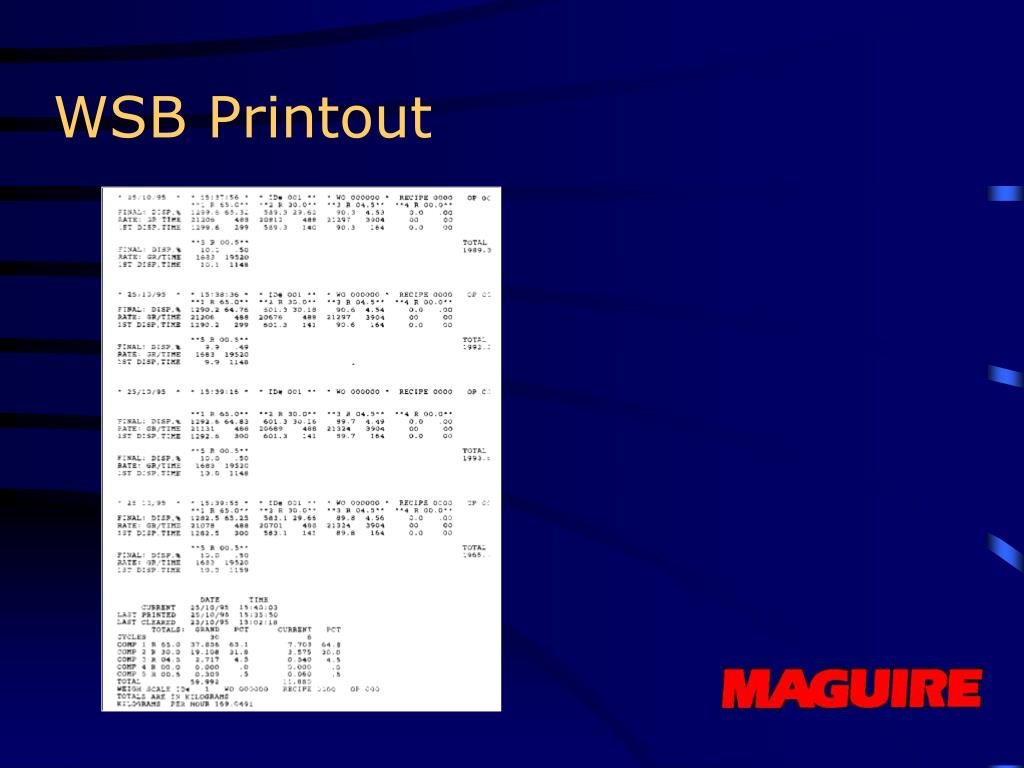 WSB Printout